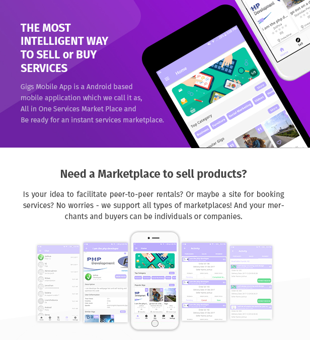 Gigs (Services Marketplace) - Native Android App | Fiverr Clone - 2