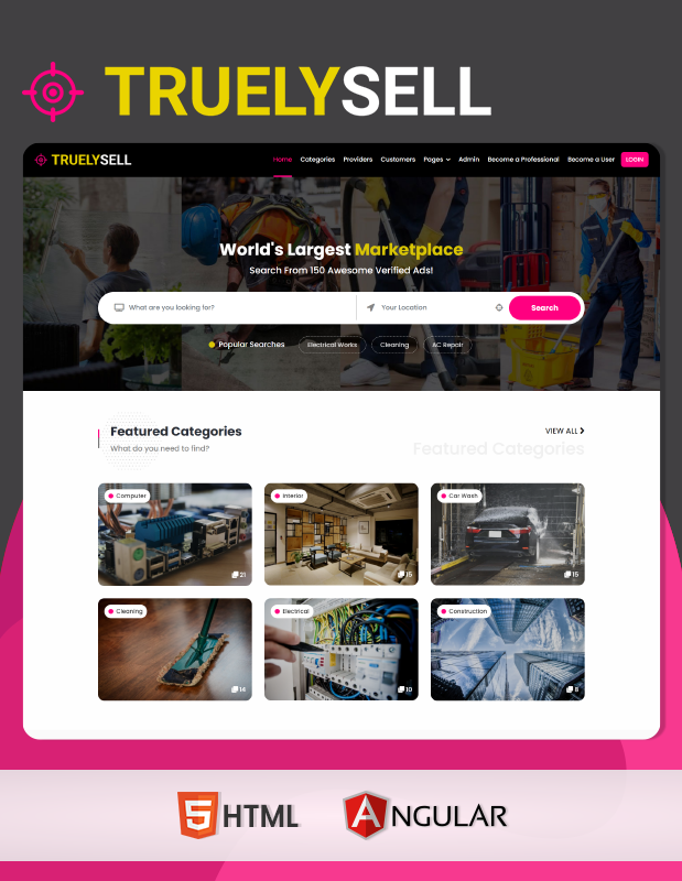 Truelysell - Service Marketplace and Service Providers Listing Template (HTML + Angular) - 2